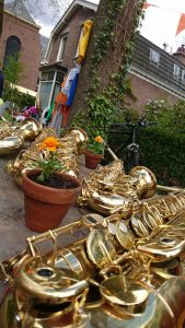 Bariton, tenor en alt saxofoon
